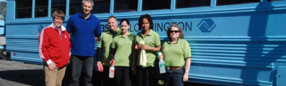Deep Cleaning of the Boy's & Girl's Club Bus for Earth Day