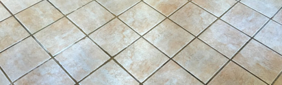 Heavy Cleaning of a Tile Floor Entry